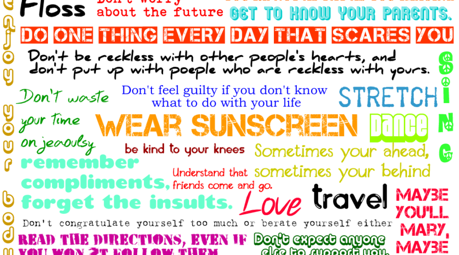 Sunscreen song tips